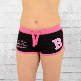 Label 23 Damen Hot Pants Sportsline Short schwarz pink