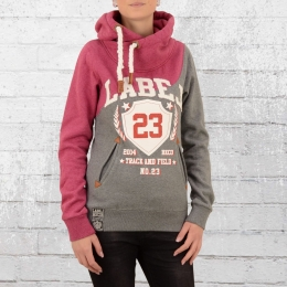 Label 23 Damen Kapuzen Sweater No 23 Hoody fuchsia grau