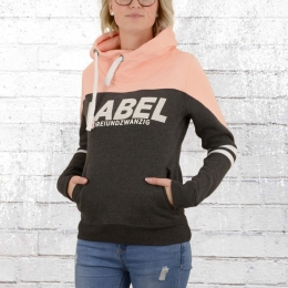 Label 23 Damen Kapuzensweater Dreiundzwanzig orange rosa grau