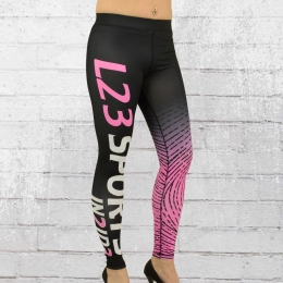 Label 23 Damen Leggings Sport IN2ID3 schwarz pink