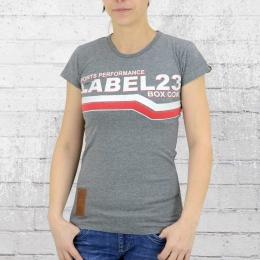 Label 23 Damen T-Shirt L23 Boxcon grau meliert