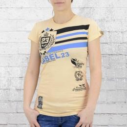 Label 23 Damen T-Shirt Retro Boxing Connection beige