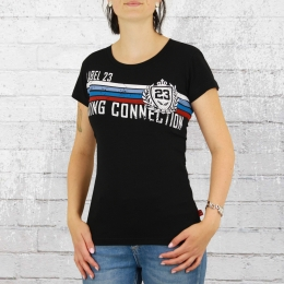 Label 23 Damen T-Shirt University schwarz