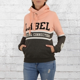 Label 23 Frauen Kapuzensweater JJ 23 orange rosa grau