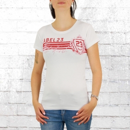 Label 23 Frauen T-Shirt Box Dich Durch weiss