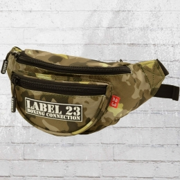 Label 23 Gürteltasche Gummi Patch Bauchtasche camouflage