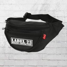 Label 23 Gürteltasche Gummi Patch schwarz