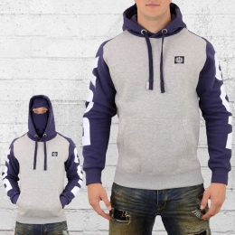 Label 23 Men Hooded Sweater Fight with Balaclava grey