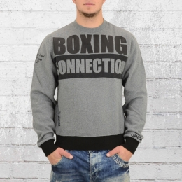 Label 23 Herren Pullover Boxing Connection Sweater grau