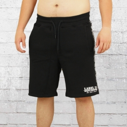 Label 23 Herren Sweat Short BC Classic schwarz