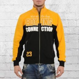 Label 23 Herren Sweatjacke Boxing gelb schwarz