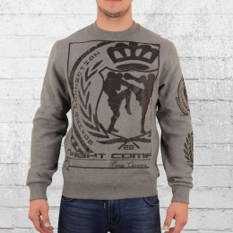 Label 23 Herren Sweatshirt Fight Company grau melange