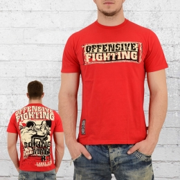 Label 23 Herren T-Shirt Offensive Fighting rot