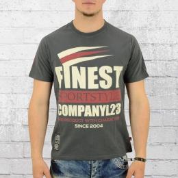 Label 23 Herren T-Shirt Warriors Way grau