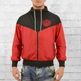 Label 23 Male Wind Jacket Athletic Team red black