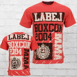 Label 23 Male T-Shirt MMA red