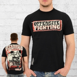 Label 23 Männer T-Shirt Offensive Fighting schwarz