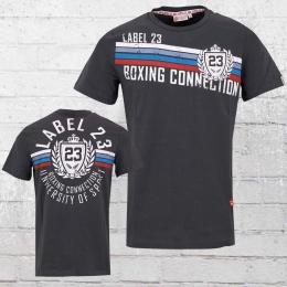 Label 23 Männer T-Shirt University grau