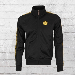 Label 23 Männer Trainingsjacke Gold Edition schwarz