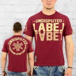 Label 23 T-Shirt Herren Undisputed weinrot