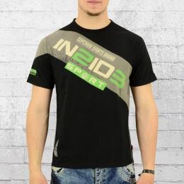 Label 23 T-Shirt Herren Workout schwarz