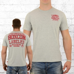 Label 23 T-Shirt Männer Dishonour grau melange