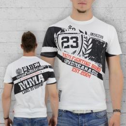 Label 23 T-Shirt Männer MMA Support weiss
