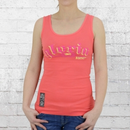 Label 23 Tank Top Frauen Gloria Boxing Connection coralrot