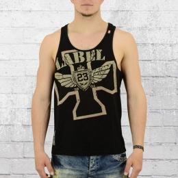 Label 23 Tank Top Herren Cross 23 Muskelshirt schwarz
