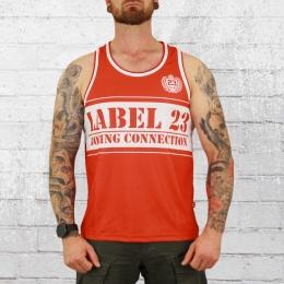Label 23 Tank Top Mesh BC Classic rot