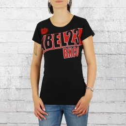 Label 23 World of Fighting Frauen Shirt schwarz