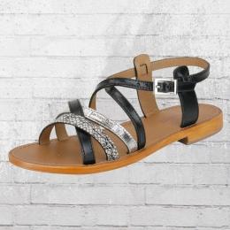 Les Tropeziennes Frauen Sandaletten Hapax schwarz silber