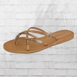 Les Tropeziennes Schlappe Damen Zehentrenner Sandale Bip beige