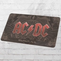 Logoshirt 4er Pack Frühstücksbretter AC DC Black Ice schwarz rot