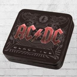 Logoshirt 6er Pack Coaster AC DC Black Ice Untersetzer schwarz rot