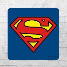 Logoshirt 6er Pack Coaster DC Superman Logo Untersetzer blau