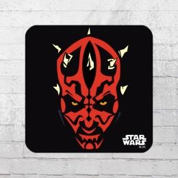 Logoshirt 6er Pack Star Wars Darth Maul Coaster Untersetzer schwarz rot