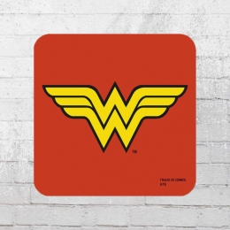 Logoshirt 6er Set Coaster DC Wonder Woman Logo Untersetzer rot