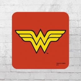 Logoshirt 6er Set Coaster DC Wonder Woman Logo Untersetzer rot