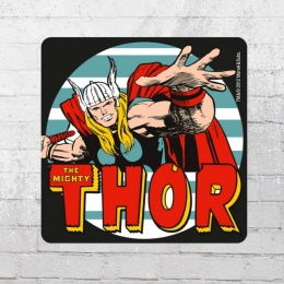 Logoshirt 6er Set Untersetzer Coaster Marvel The Mighty Thor bunt