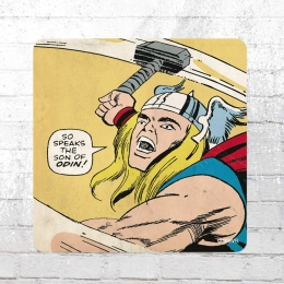 Logoshirt 6x Untersetzer Coaster Marvel Mighty Thor Son of Odin bunt