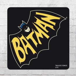 Logoshirt Batman Bat Untersetzer Coaster schwarz