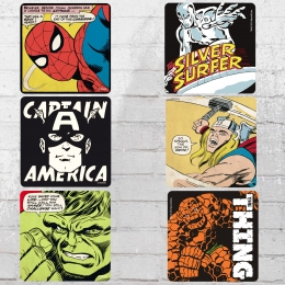 Logoshirt Bierdeckel Untersetzer Set Marvel Mix Coaster Avengers multi