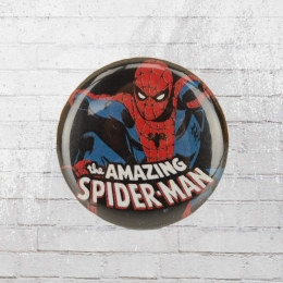 Logoshirt Button Anstecker Amazing Spiderman Comic