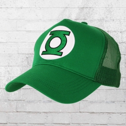 Logoshirt Cap DC Green Lantern Logo gestickt Mesh Trucker grün