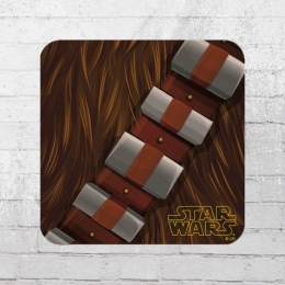 Logoshirt Coaster Star Wars Chewbacca Bandoleer Untersetzer braun