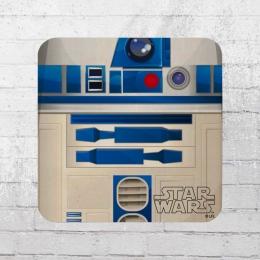 Logoshirt Coaster Star Wars R2 D2 Untersetzer weiss blau