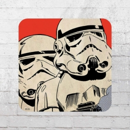 Logoshirt Coaster Star Wars Stormtrooper Untersetzer rot weiss