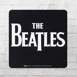 Logoshirt Coaster The Beatles Logo Untersetzer schwarz