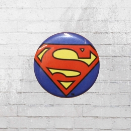 Logoshirt Comic Anstecker Button DC Superman Logo blau